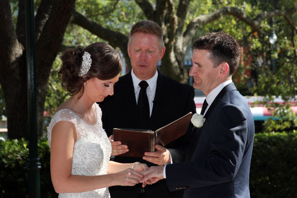 Disney Wedding Planner Megan and Andrew's Walt Disney World Swan and Dolphin Resort wedding took place at the end of September on a warm