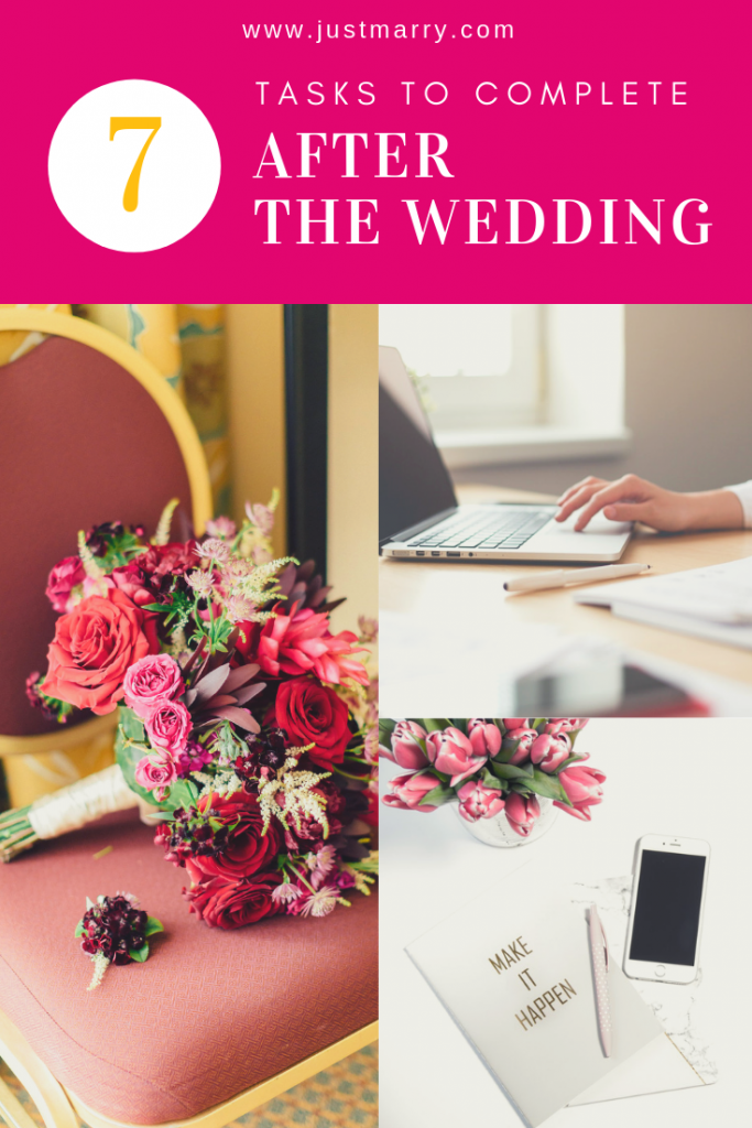 7 Tasks to Complete After the Wedding