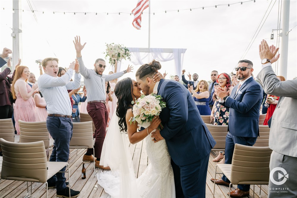 April Wedding - Just marry Weddings - Complete Weddings and Events - Couple Kisses