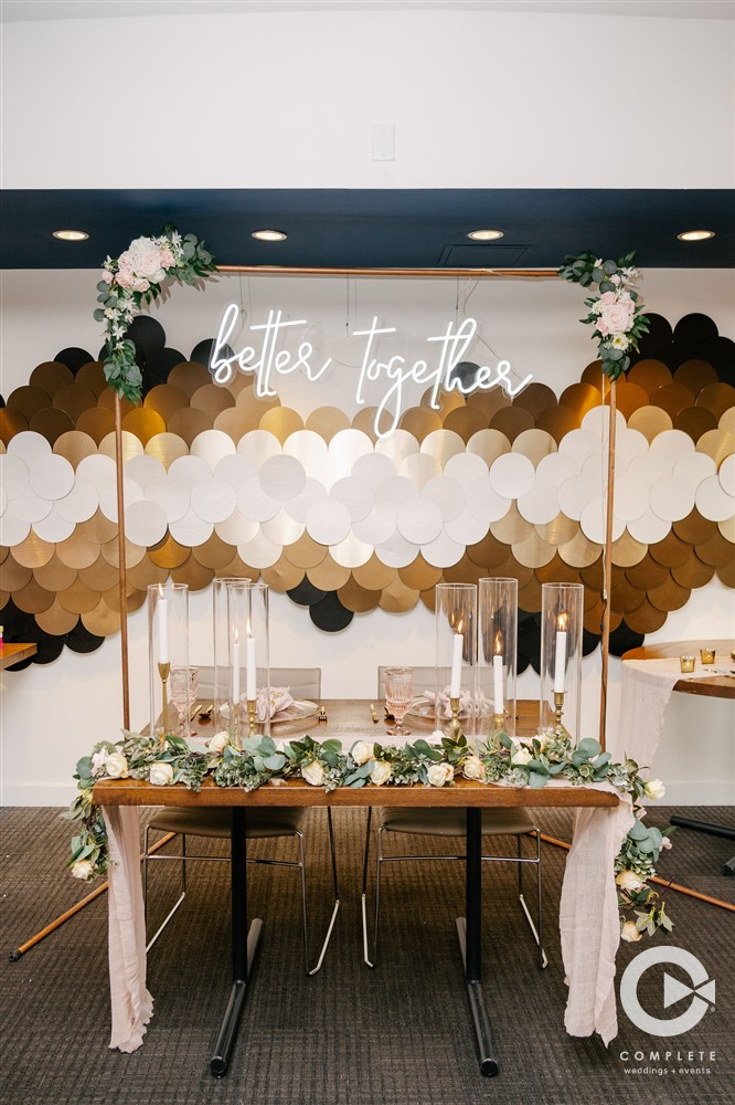 April Wedding - Just marry Weddings - Complete Weddings and Events - Sweetheart Table