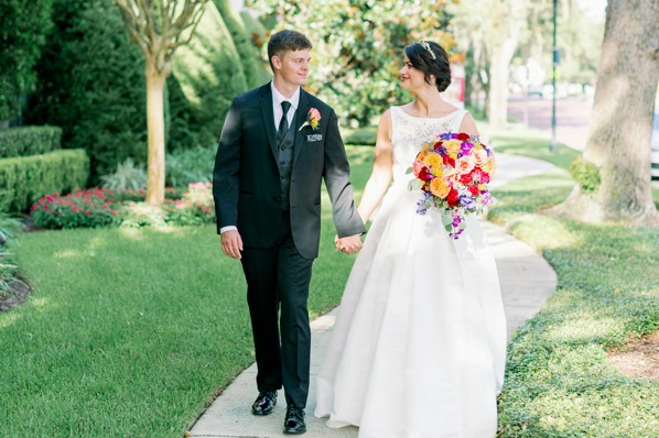 Colorful August Wedding | The Alfond Inn Wedding of Anna and Jess