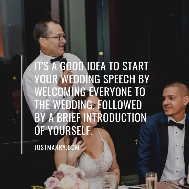 Best Wedding Speeches Ever Quote - Just Marry Weddings - Jesse Giles