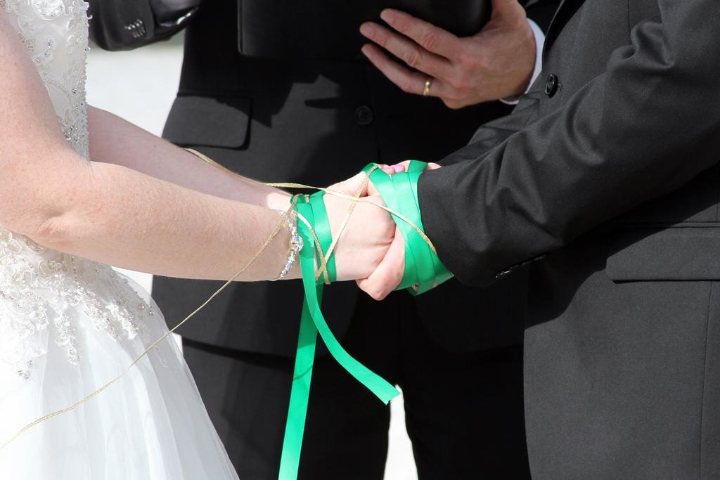 Disney Weddings Florida | Heather and Ian's Swan Wedding