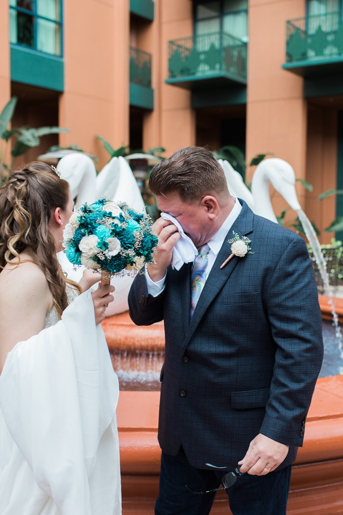 Disney Weddings Florida | Erin and Kameron's Swan Wedding