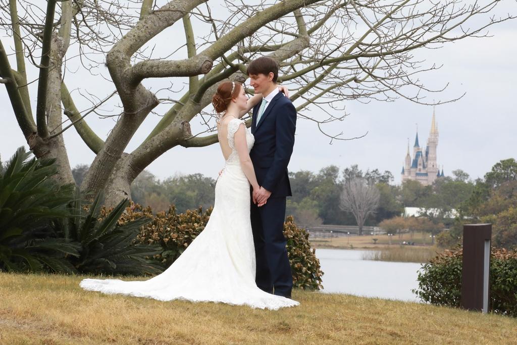 Disney Weddings Florida | Brittany and Derryck's Swan Wedding