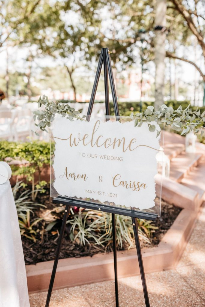Blush and Gold Wedding - Just Marry Weddings - Allie and Joey Photography - Signs