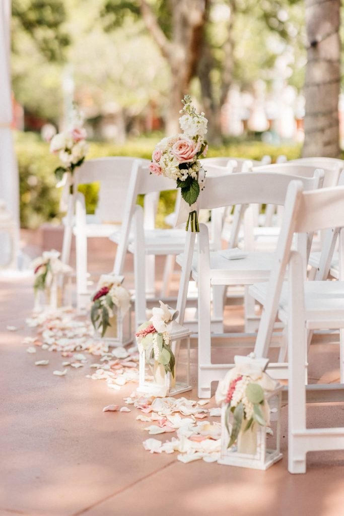 Blush and Gold Wedding - Just Marry Weddings - Allie and Joey Photography - Ceremony Decor