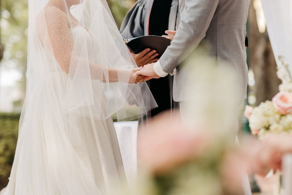 Blush and Gold Wedding - Just Marry Weddings - Allie and Joey Photography - Ceremony