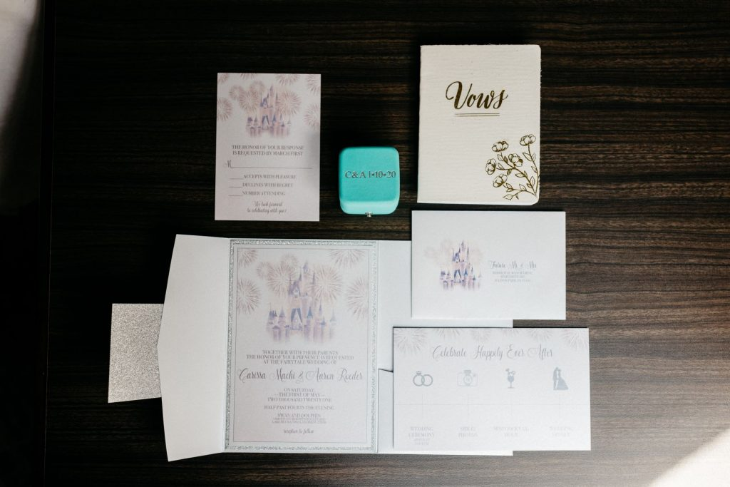 Blush and Gold Wedding - Just Marry Weddings - Allie and Joey Photography - Stationery