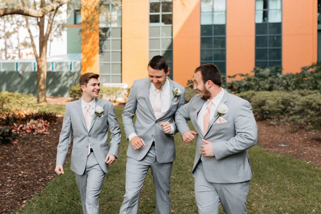 Blush and Gold Wedding - Just Marry Weddings - Allie and Joey Photography - Wedding Party