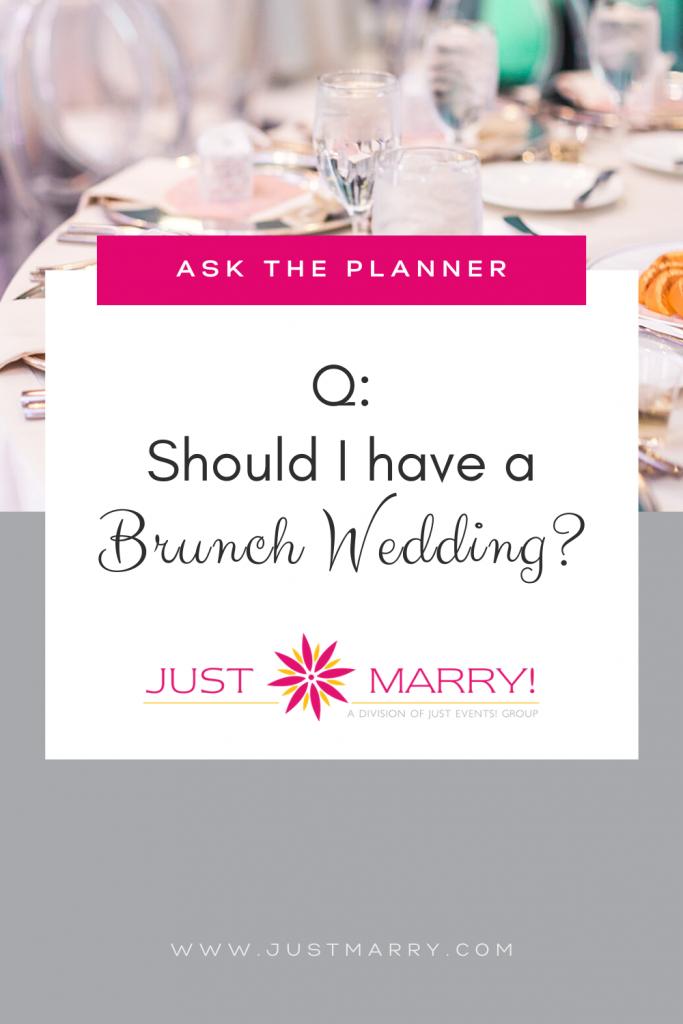 Brunch Wedding - Just Marry Weddings