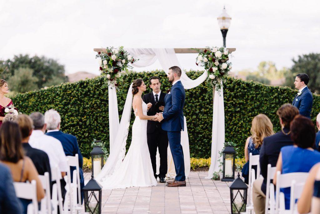 Burgundy and Blush Wedding - Just Marry Weddings - JP Pratt Photography - Outdoor Wedding Ceremony