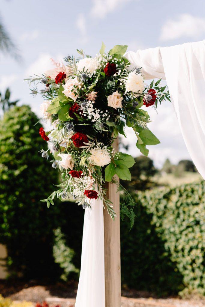 Burgundy and Blush Wedding - Just Marry Weddings - JP Pratt Photography - Ceremony Flowers