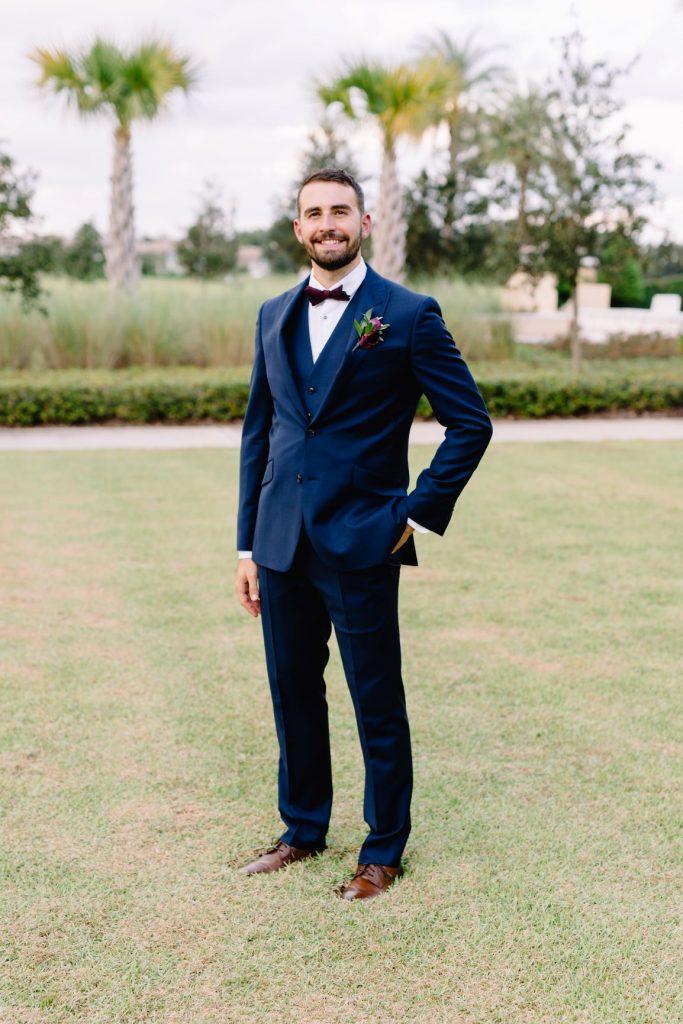 Burgundy and Blush Wedding - Just Marry Weddings - JP Pratt Photography - Groom