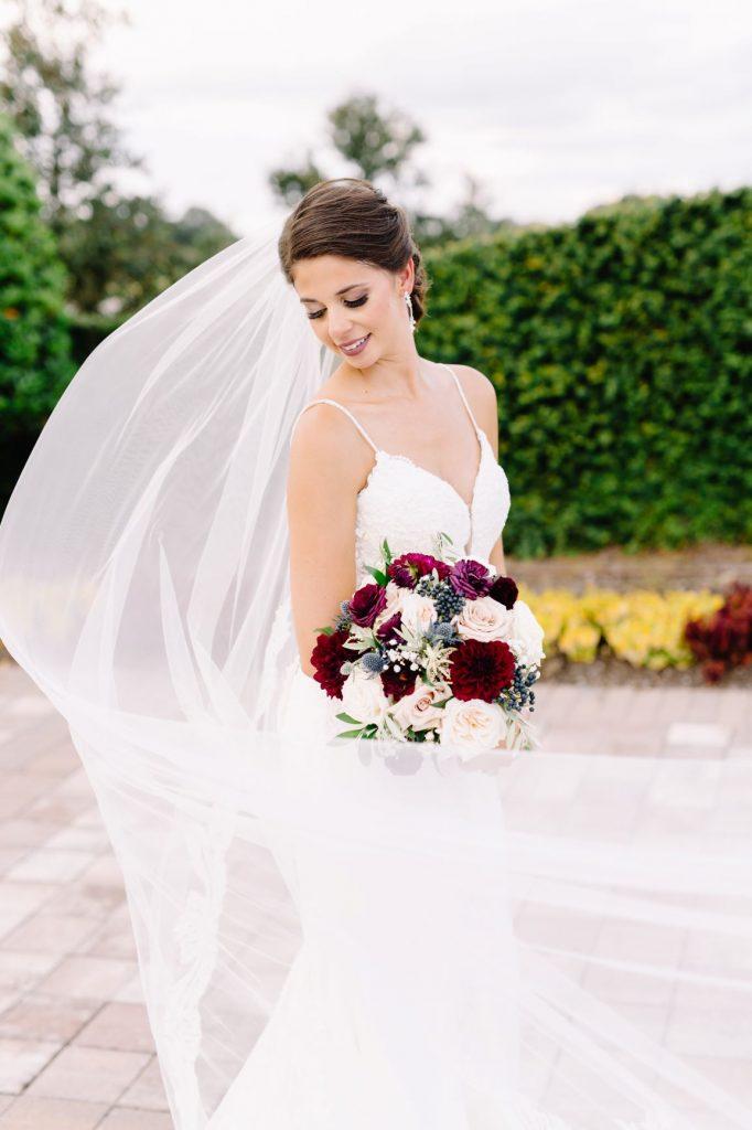Burgundy and Blush Wedding - Just Marry Weddings - JP Pratt Photography - Bride