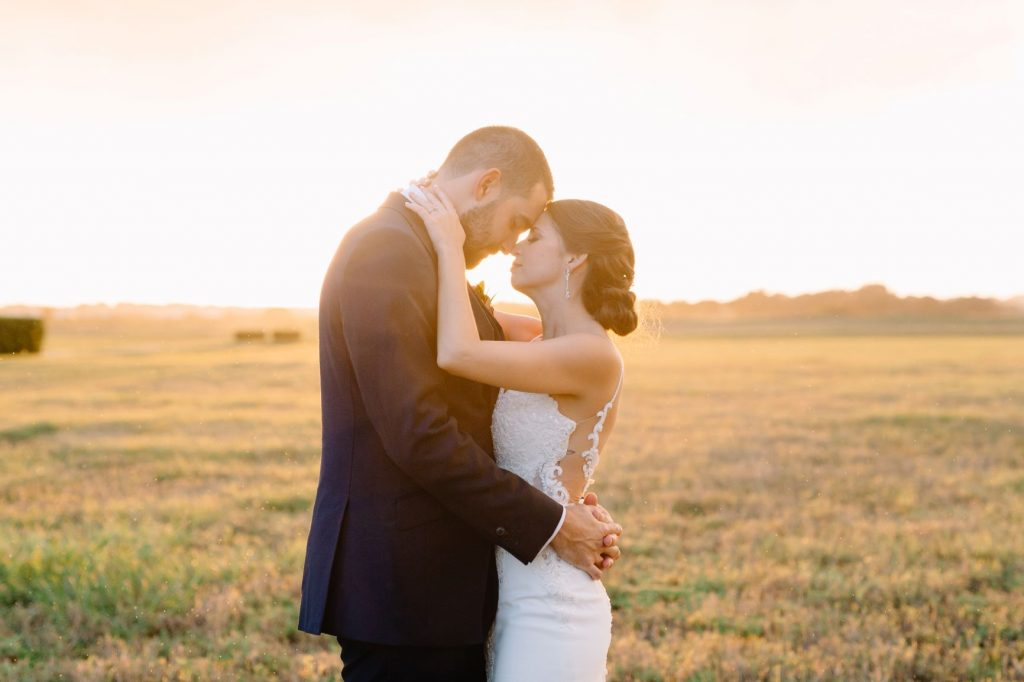 Burgundy and Blush Wedding - Just Marry Weddings - JP Pratt Photography - Bride and Groom Sharing a Moment Together