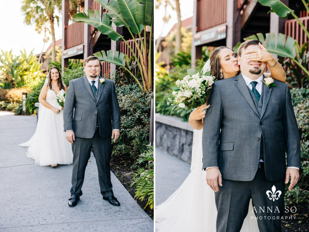 Disney Micro Wedding - Just Marry Weddings - Anna So Photography - First Look