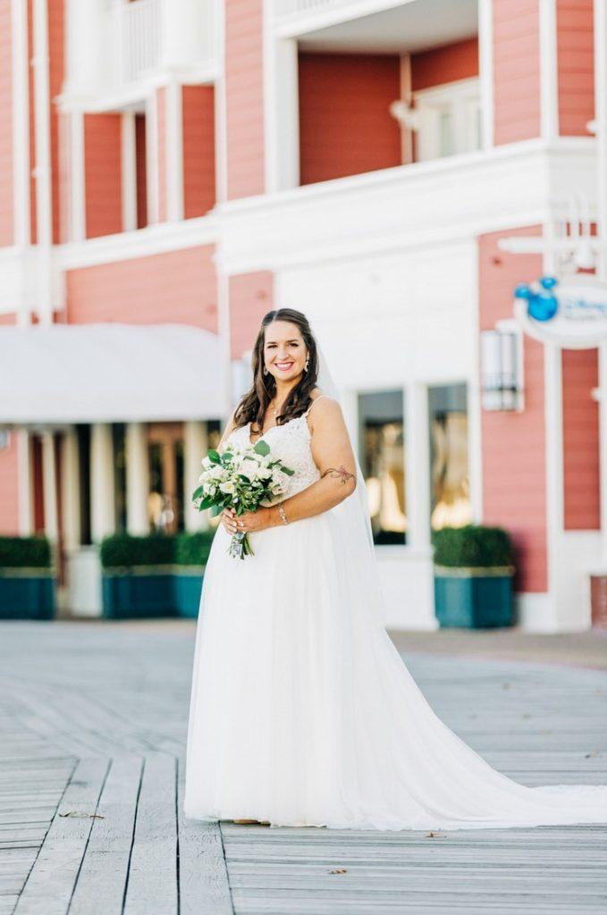 Disney Micro Wedding - Just Marry Weddings - Anna So Photography - Bride