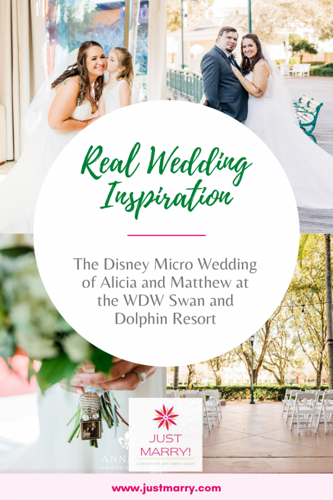 Disney Micro Wedding - Just Marry Weddings - Anna So Photography - Pinterest Title Graphic