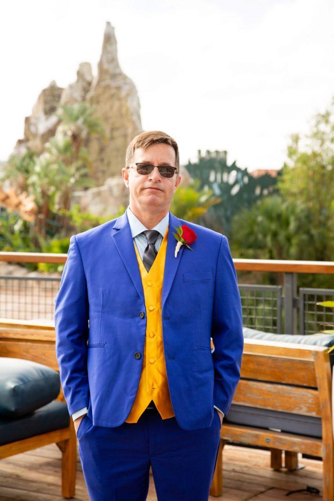 Disney Vow Renewal - Just Marry Weddings - David and Vicki Arndt Photography - Paddlefish - Groom