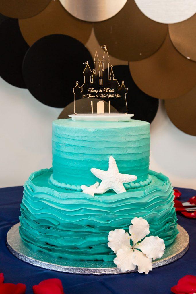 Disney Vow Renewal - Just Marry Weddings - David and Vicki Arndt Photography - Paddlefish - Cake