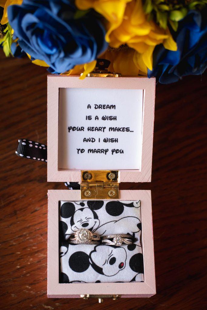 Disney Wedding Ideas - Just Marry Weddings - Nova Imagery - Paddlefish - Ring Box