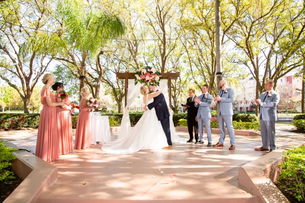 Disney Wedding - Just Marry Weddings - David and Vicki Arndt Photography - First Kiss