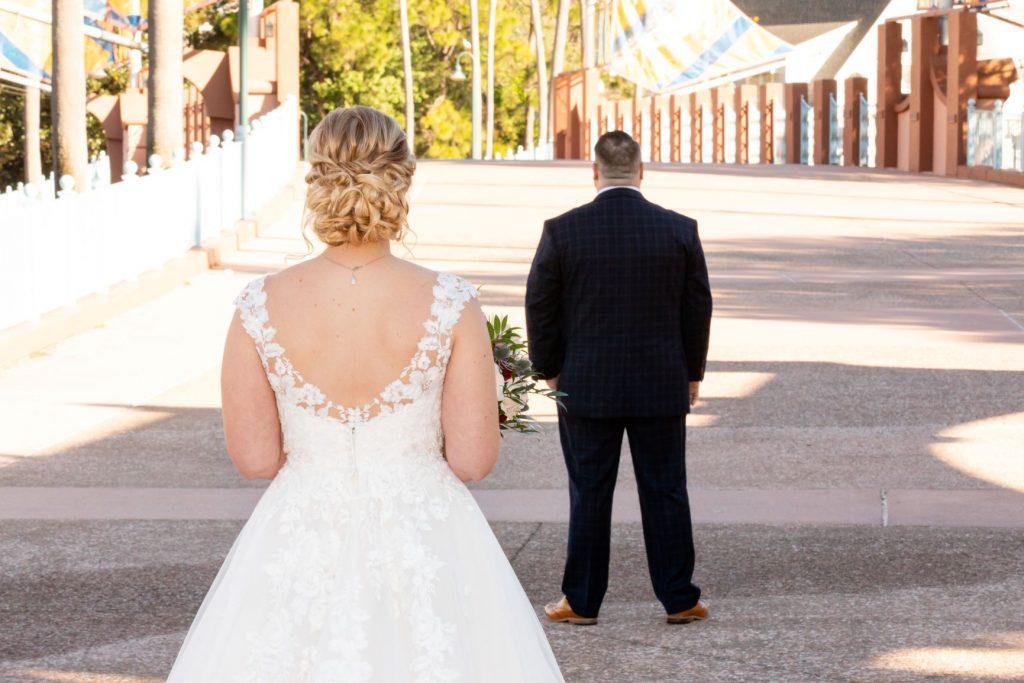 Disney Wedding - Just Marry Weddings - David and Vicki Arndt Photography - First Look
