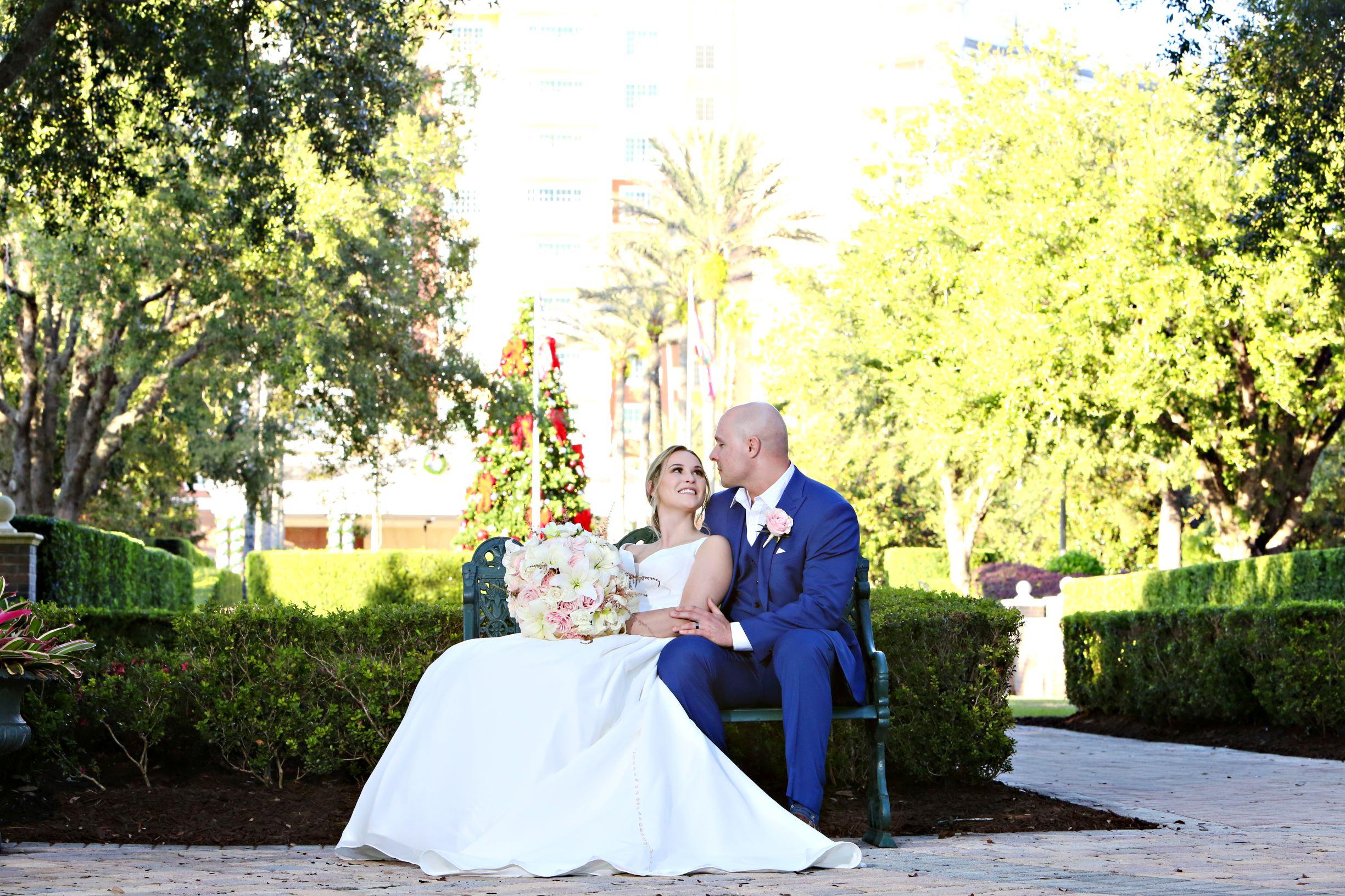 Disney Wedding Venue | Ashley and Aaron at Reunion Resort