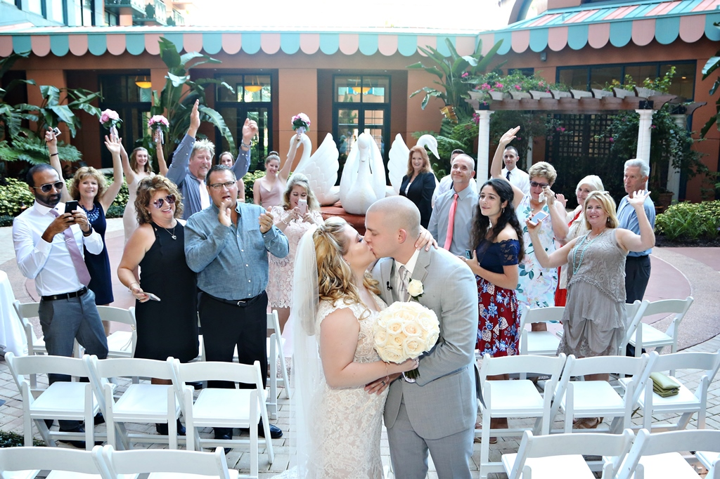 Disney World Wedding | The Swan and Dolphin Wedding of Brie and Jacob