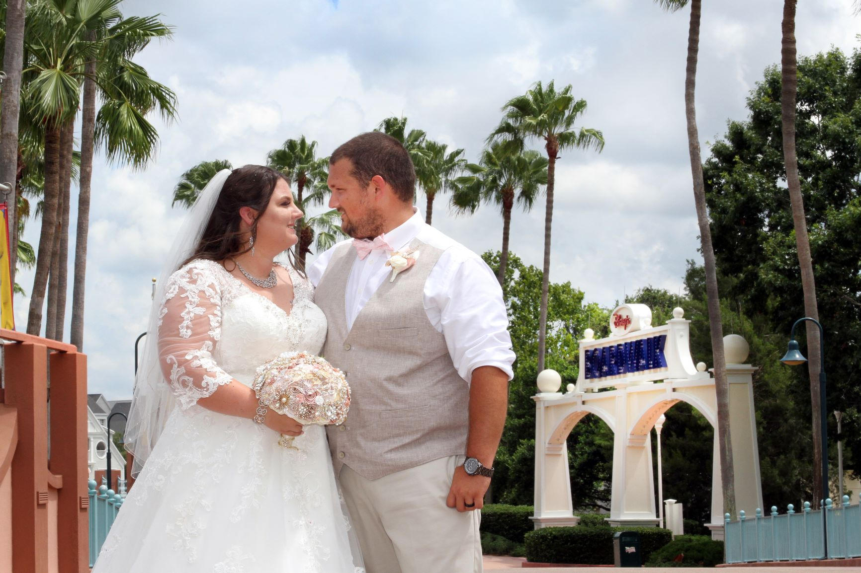 Disney Wedding Packages | The Swan Wedding of Amber and Chris