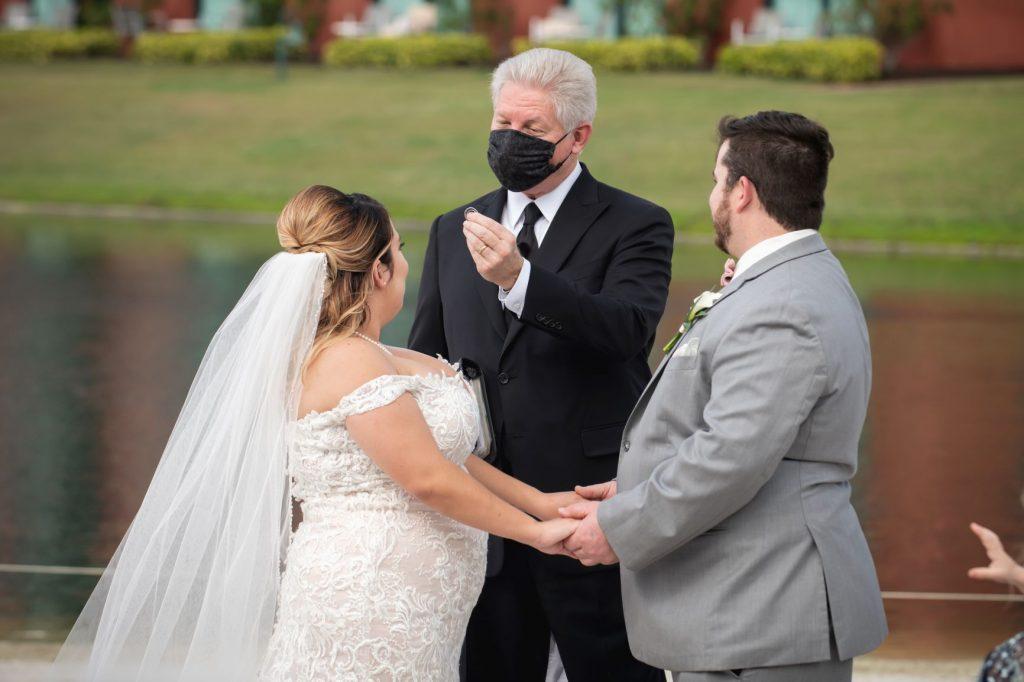 Florida Beach Wedding - Just Marry Weddings - Nova Imagery - Ring Exchange