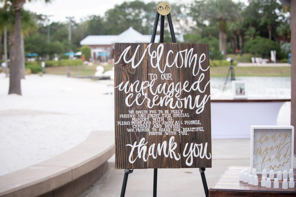 Florida Beach Wedding - Just Marry Weddings - Nova Imagery - Wedding Sign