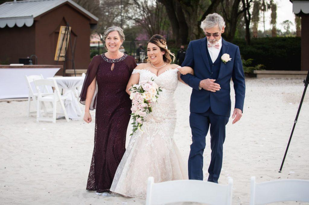 Florida Beach Wedding - Just Marry Weddings - Nova Imagery - Bride Processes