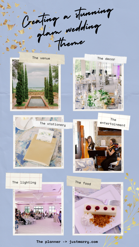 Glam Wedding Theme - Just Marry Weddings - KMD Photo and Film - Pinterest