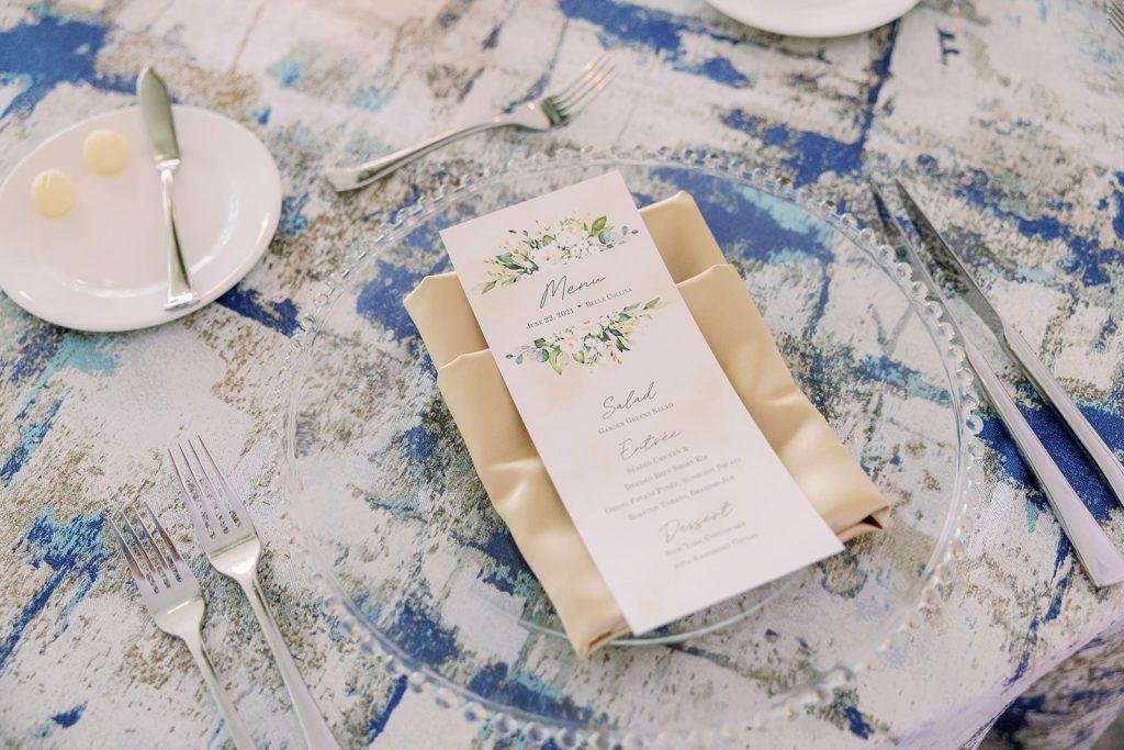 Glam Wedding Theme - Just Marry Weddings - KMD Photo and Film - Menu