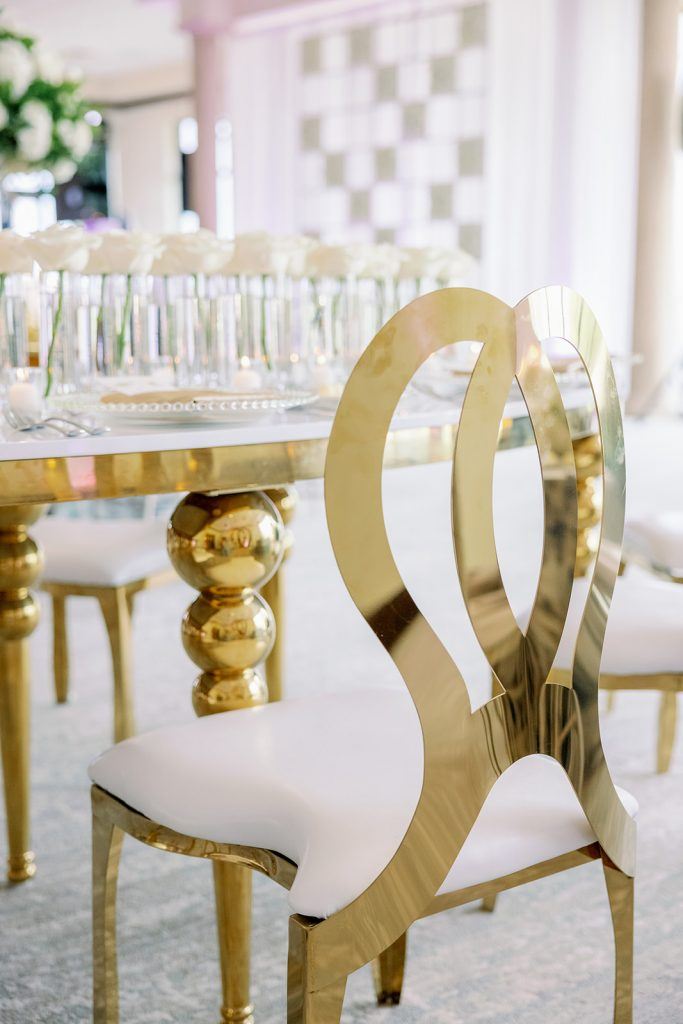 Glam Wedding Theme - Just Marry Weddings - KMD Photo and Film - Chairs