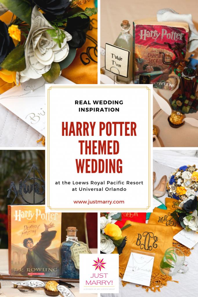 Harry Potter Themed Wedding - Just Marry Weddings - Regina Hyman Photography - Pinterest Graphic