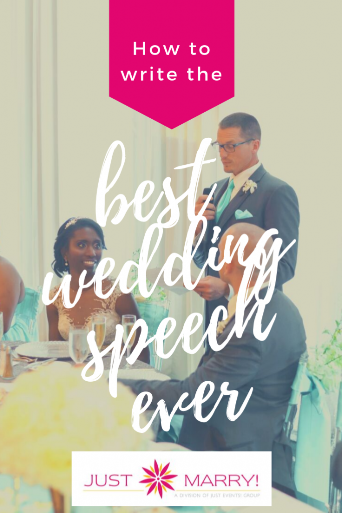 How to Write the Best Wedding Speech Ever - Just Marry Weddings