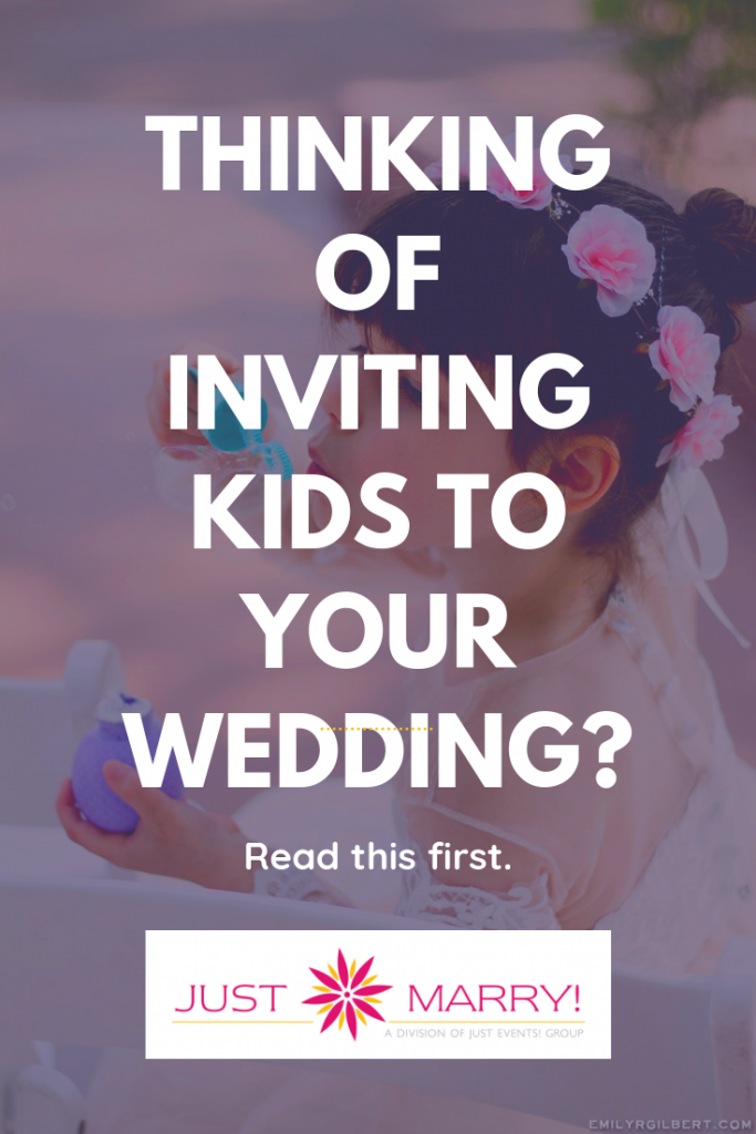 Inviting Kids to Your Wedding - Just Marry Weddings