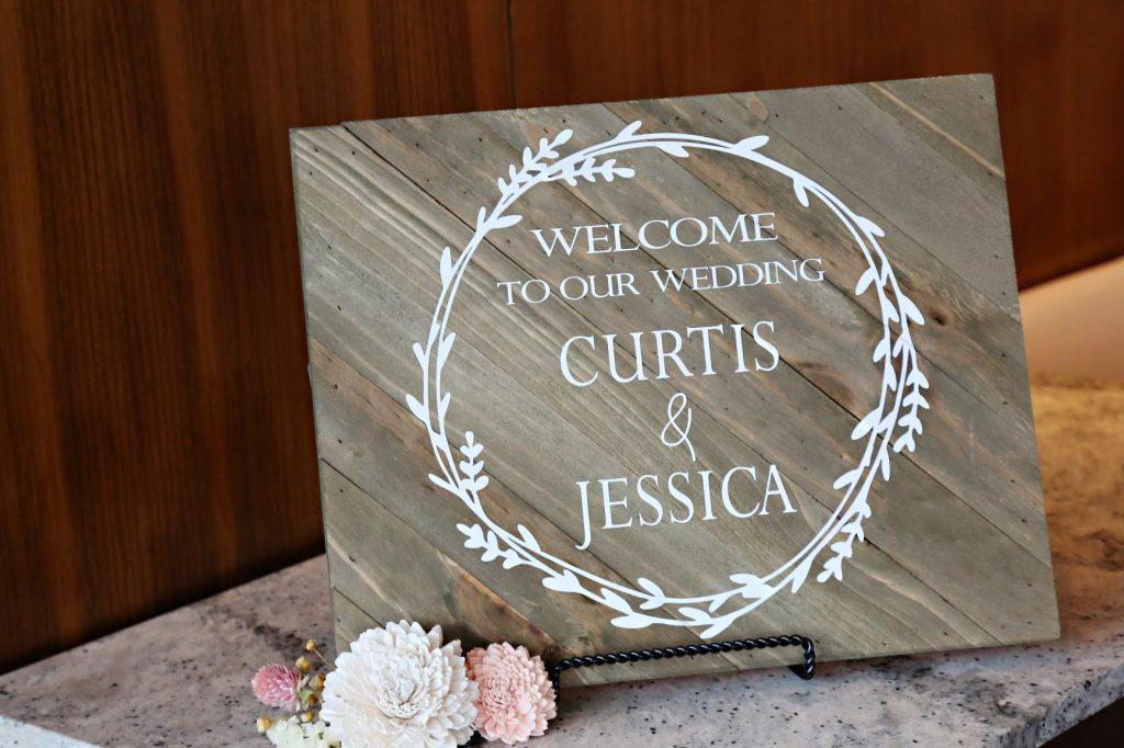 January Wedding - Just Marry Weddings - Regina Hyman Photo - Paddlefish - Wedding Sign