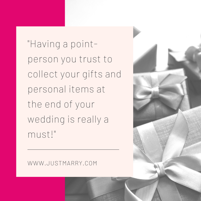 Jobs for Friends and Family at Weddings - Just Marry Weddings - Gifts
