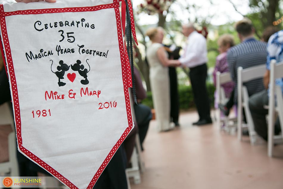 Swan and Dolphin Disney Vow Renewal | Mary and Michael
