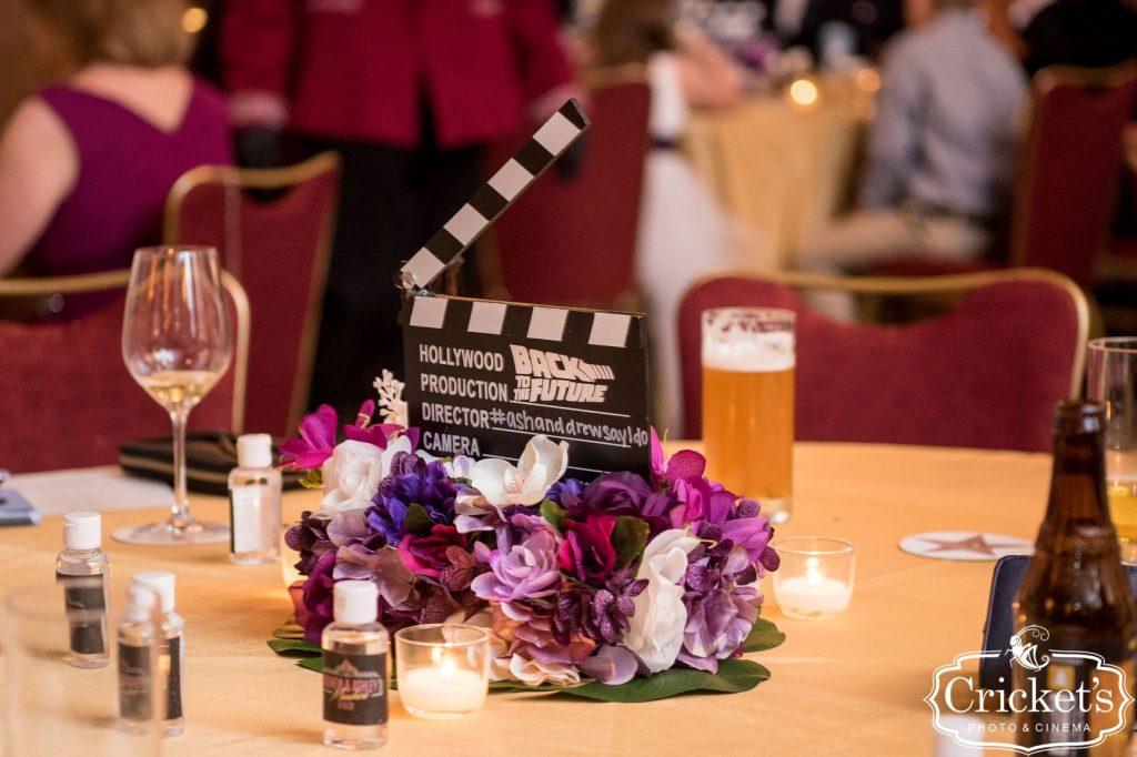 Movie Wedding Theme - Just Marry Weddings - Cricket's Photography - Royal Pacific Resort Wedding - Centerpiece