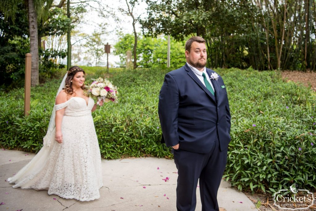 Movie Wedding Theme - Just Marry Weddings - Cricket's Photography - Royal Pacific Resort Wedding - First Look