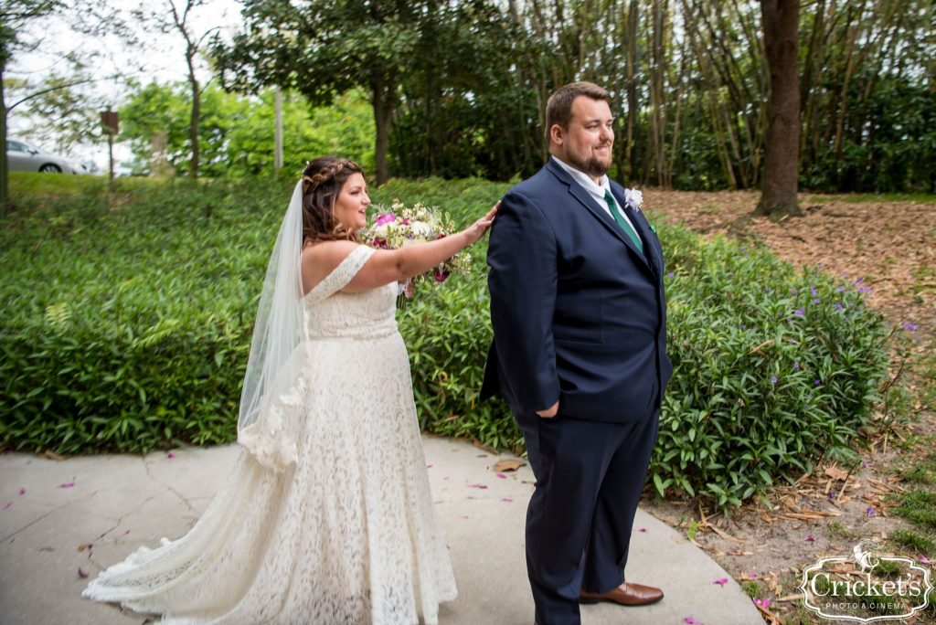 Movie Wedding Theme - Just Marry Weddings - Cricket's Photography - Royal Pacific Resort Wedding - First Look 2