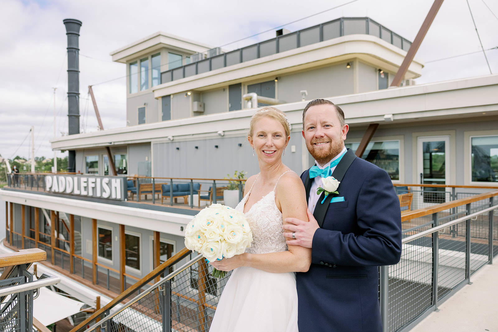 Magical Nautical Wedding | Laurie and Mark at Paddlefish Disney Springs