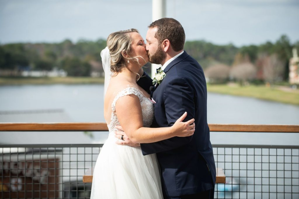 New Year's Wedding - Just Marry Weddings - Nova Imagery - First Kiss
