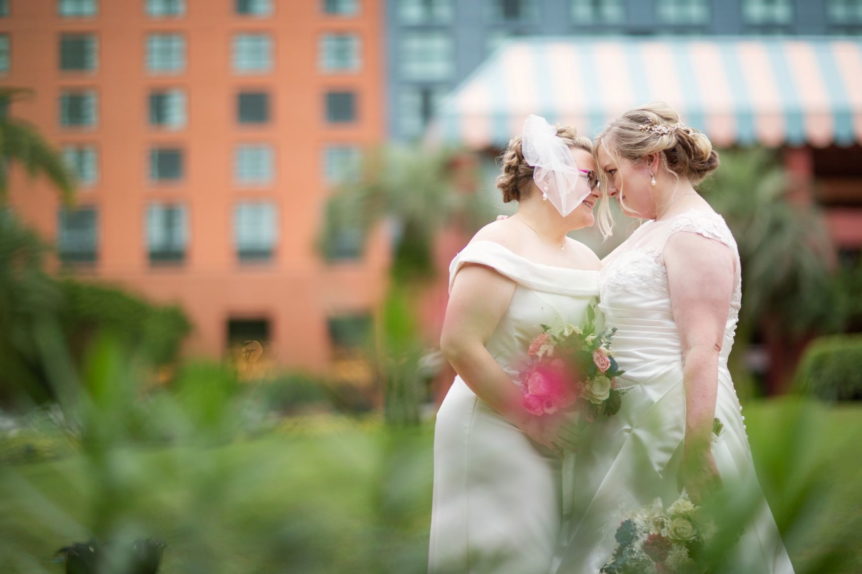 Sweet Rainy Day Wedding | Amanda and Catie at the WDW Swan and Dolphin