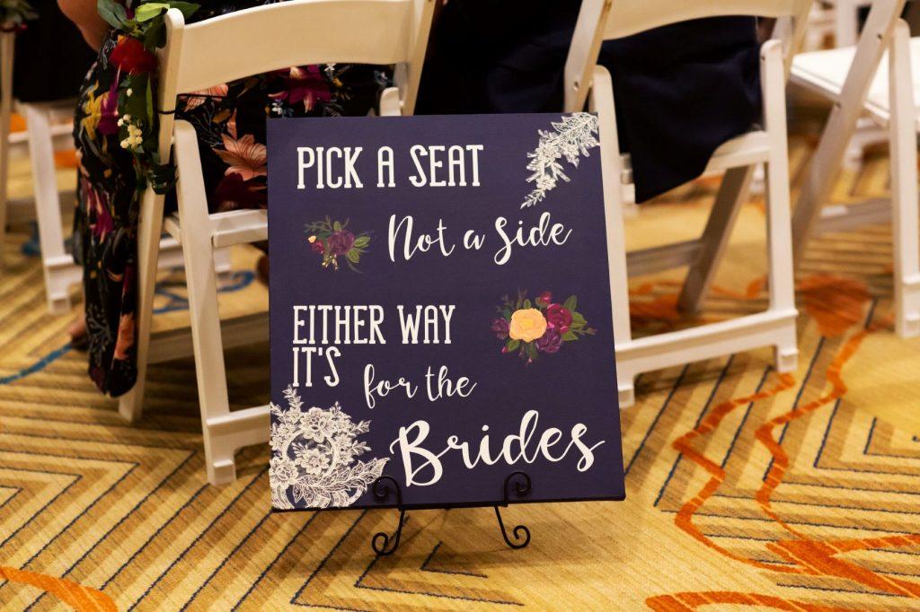 Rainy Day Wedding - Just Marry Weddings - Roots Photography - Wedding Signage